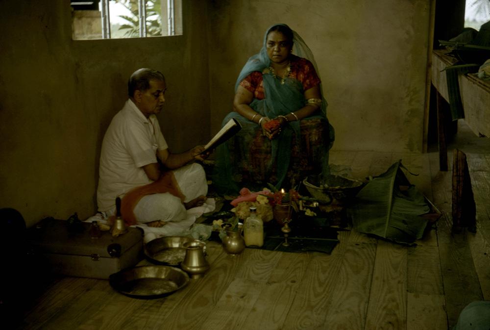 Worship of goddess Durga performed by Dharam Pundit, Diamond Village, Trinidad