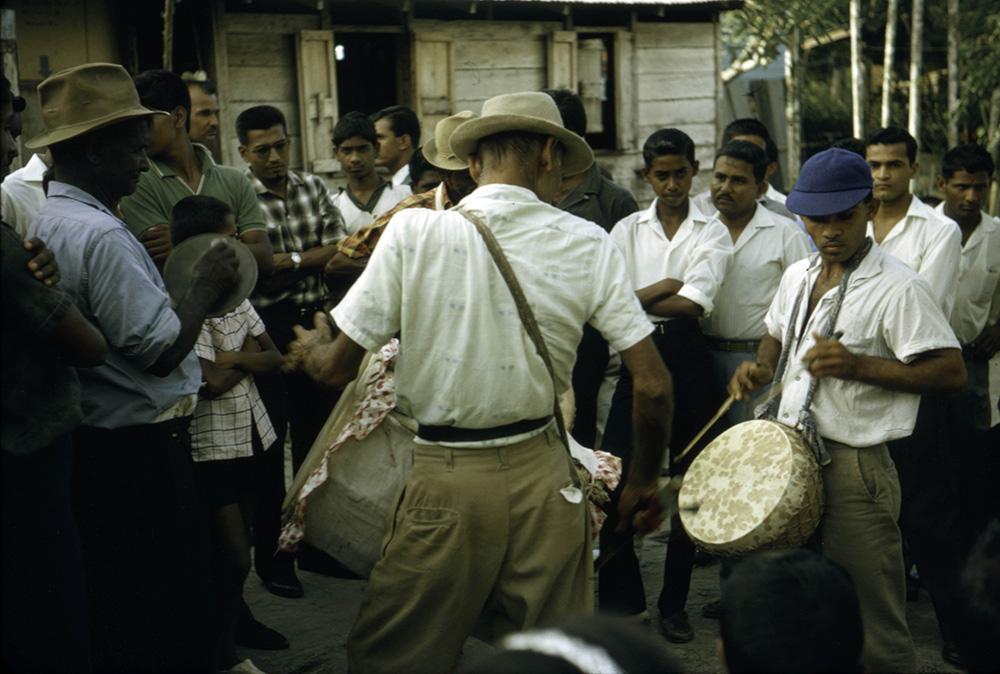 Drummers at Hindu wedding, San Fernando, Trinidad