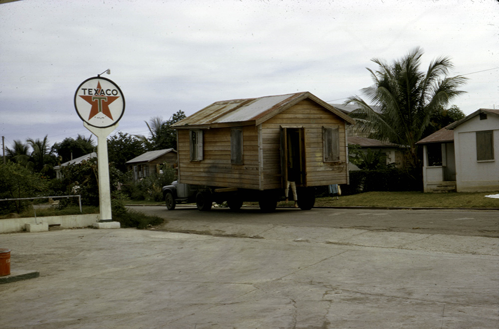 An unconventional way to move house – Antigua, Caribbean